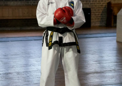 UKTD Taekwon-Do Jade Doran.  3rd Dan Black Belt. University Student.
