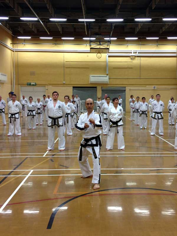 UKTD President Master Moradoff, 7th Dan, leading a Taekwon-Do Seminar in Wales UK