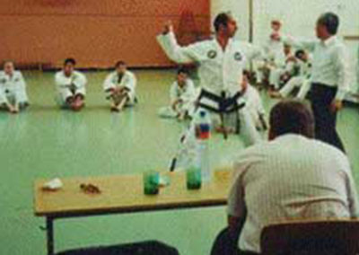 General Choi demonstrating finer points of movement on Master Moradoff
