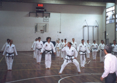 Grandmaster Harkess leading the group with Gen. Choi