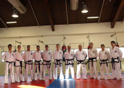Some of the Black Belts in attendance