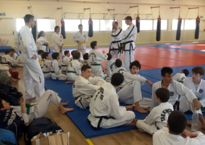 Master Moradoff and Mr David Bogen teaching
