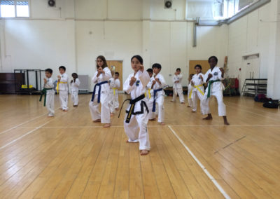 UKTD Taekwon-Do Children's class Finchley, North London.