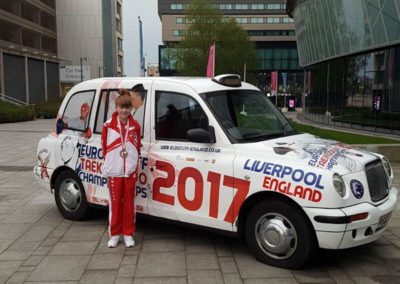 UKTD representation at The Euros 2017 Ella and the Euros promotional Black Cab