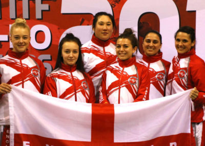 UKTD representation at The Euros 2017 Jade, second from left, and her team members