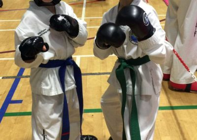 UKTD students geared up for their sparring event at the 2017 Taekwon-Do London Open.