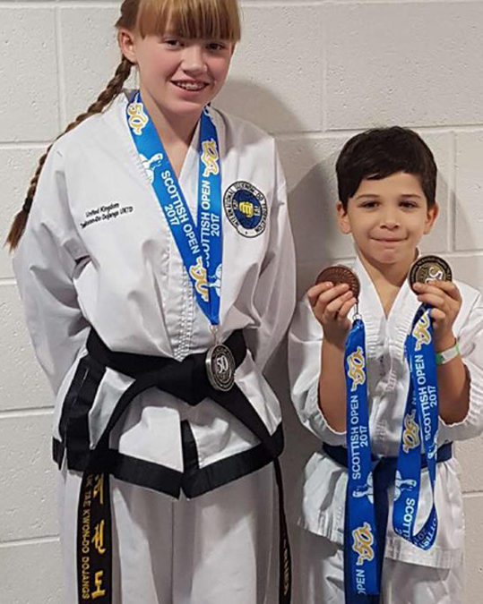 UKTD Medal Winners from the Scottish Open 14th October 2017